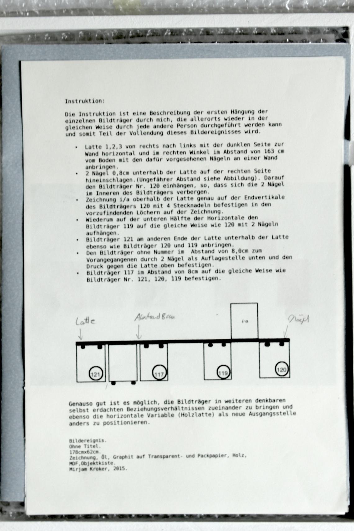 Instruktion, Ohne Titel,  Mirjam  Kroker,  2015